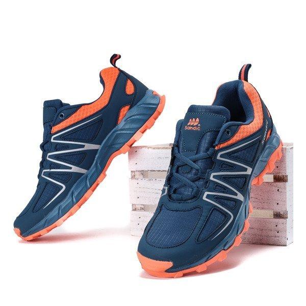 59289794b32d9 Granatowo-pomarańczowe męskie buty sportowe Jonas - Obuwie