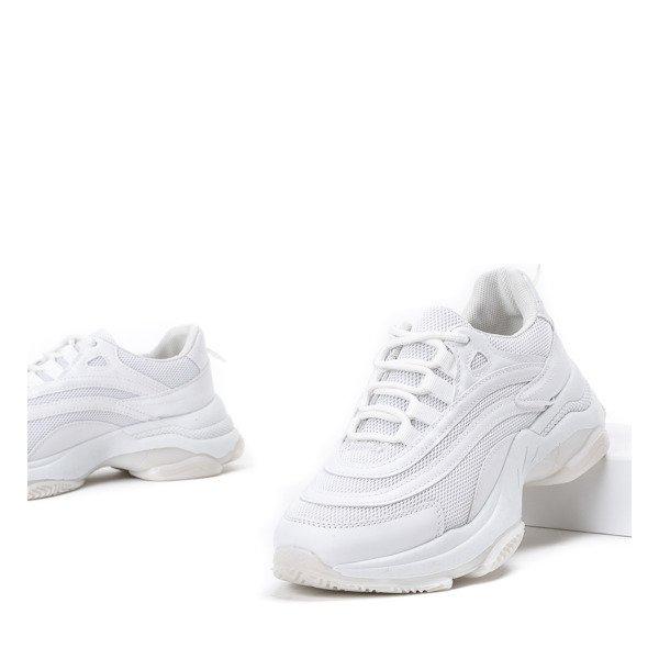 f90f7dc7d73442 Białe buty sportowe na grubej podeszwie Alabama - Obuwie Kliknij, aby  powiększyć ...