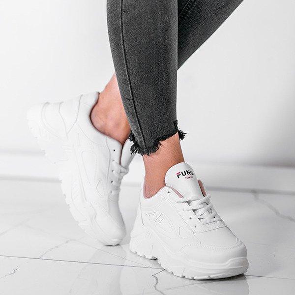030f7937d44659 Białe buty sportowe na grubej podeszwie Holly- Obuwie Kliknij, aby  powiększyć ...