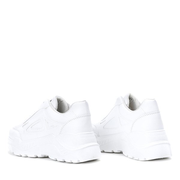 3beaf53b1e40c9 ... Białe buty sportowe na grubej podeszwie Holly - Obuwie Kliknij, aby  powiększyć