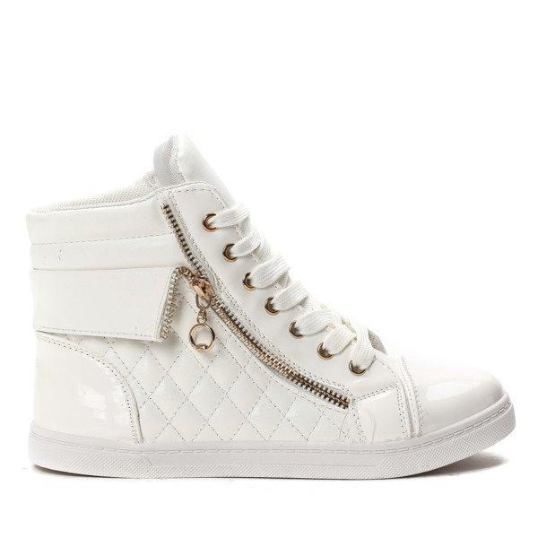 0b18bd4386849 Białe sneakersy za kostkę Aliya- Obuwie - | Royalfashion.pl - sklep ...