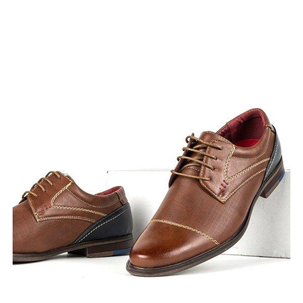 buty brązowe męskie materiałowe