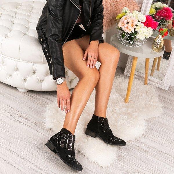 7c72c404 Czarne botki z dżetami Caudice - Obuwie - | Royalfashion.pl - sklep ...