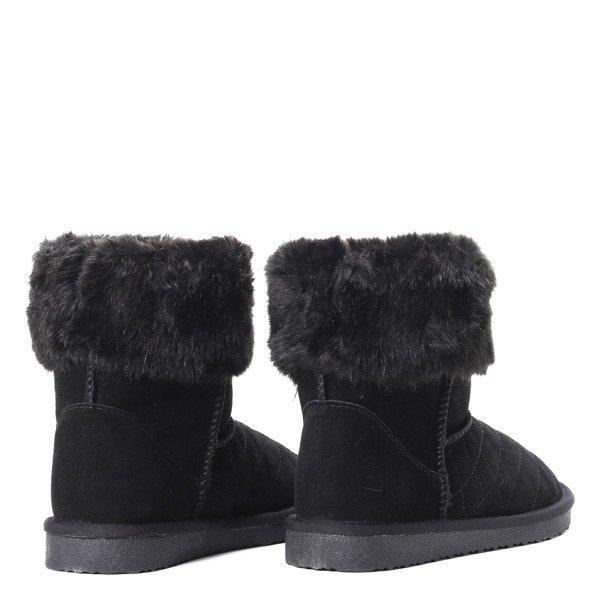 de5e9b72 Czarne, śniegowce z futerkiem - Obuwie - | Royalfashion.pl - sklep z ...