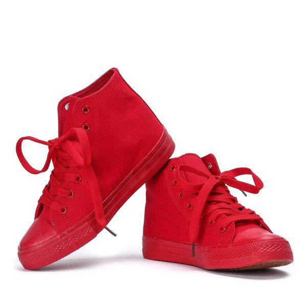 757da04bb7bd3 ... Klasyczne trampki w kolorze czerwonym Laurette - Obuwie Kliknij, aby  powiększyć ...