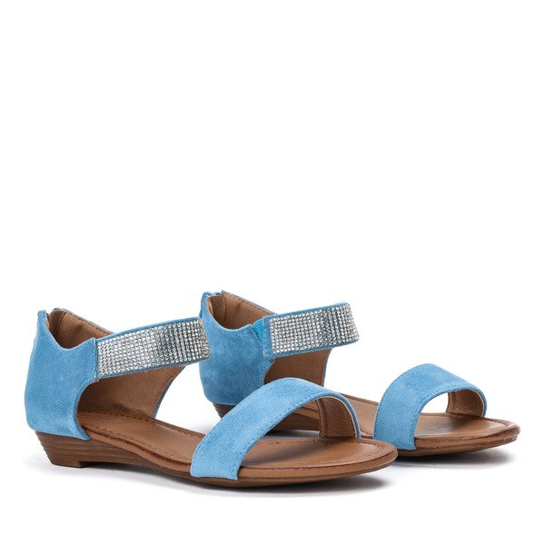 34f69b77 ... Niebieskie sandały na niskiej koturnie Acellia - Obuwie Kliknij, aby  powiększyć ...