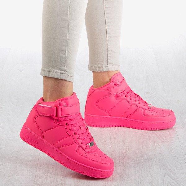 Rozowe Neonowe Wysokie Buty Sportowe Na Platformie Tiny Dancer Obuwie Rozowy Neonowy Royalfashion Pl Sklep Z Butami Online