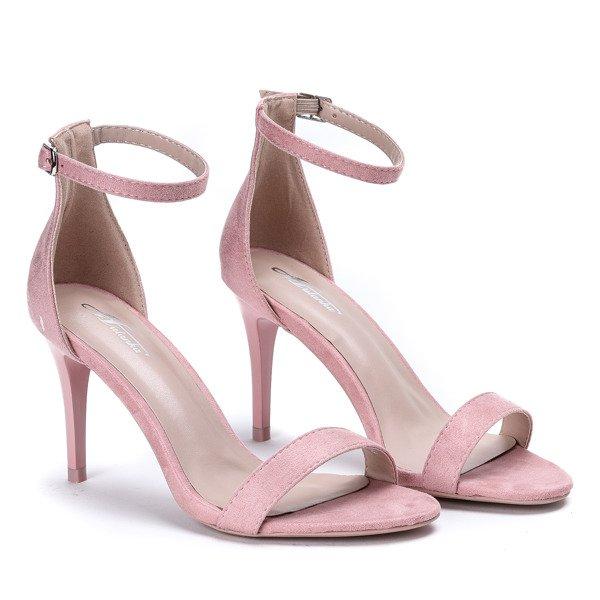 22b2c02199524e ... Różowe sandały na szpilce ze sprzączką Cecilynn - Obuwie Kliknij, aby  powiększyć ...