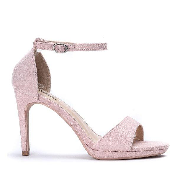0887a2b428553f ... Różowe sandały na wysokiej szpilce Florent - Obuwie Kliknij, aby  powiększyć ...