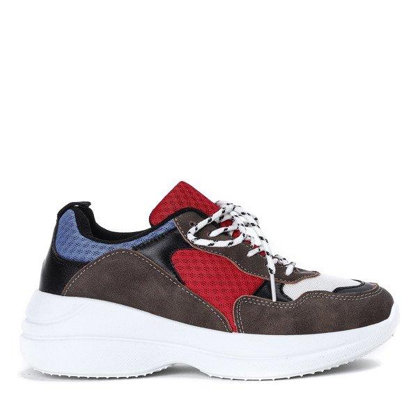6168a73e ... Wielokolorowe buty sportowe na grubej podeszwie Hailey - Obuwie  Kliknij, aby powiększyć ...
