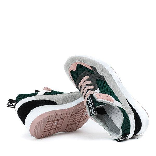 802e62eddc60d Kliknij, aby powiększyć; Zielone buty sportowe z kolorowymi wstawkami  Martien - Obuwie Kliknij, aby powiększyć
