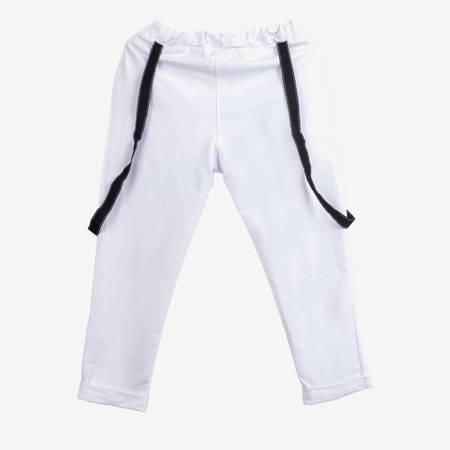 Biały komplet dresowy z czarnymi wstążkami - Odzież