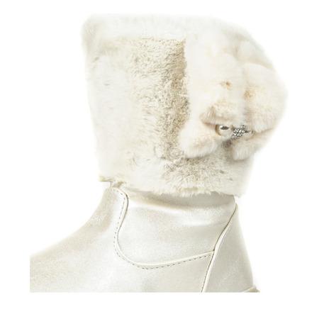 Beżowe dziecięce śniegowce z futrem Bunni - Obuwie