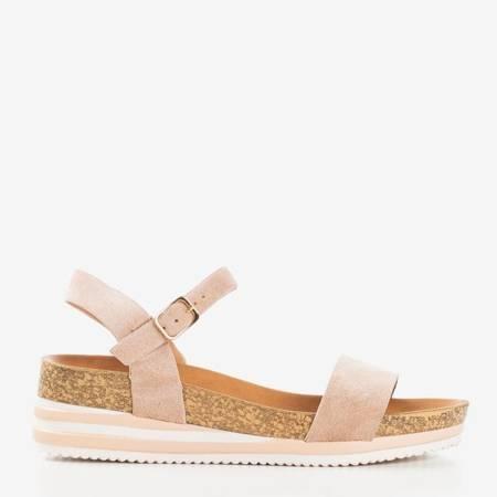Beżowe sandały na platformie Kalifa - Obuwie