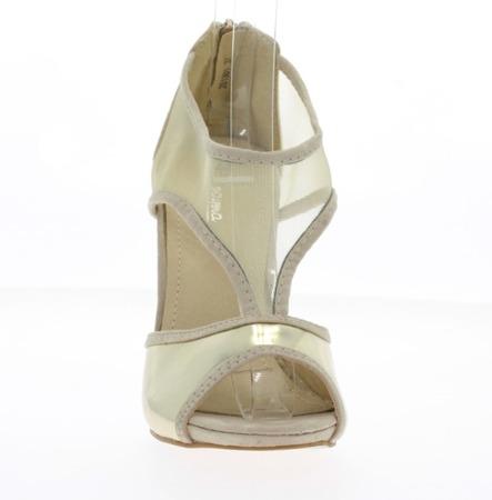 Beżowe sandały z siateczką - Obuwie
