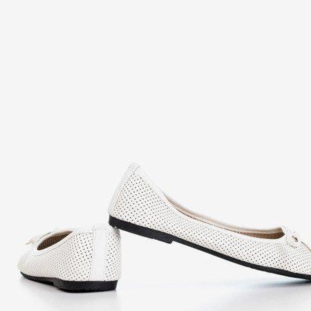 Białe baleriny dziecięce Lavisca - Obuwie