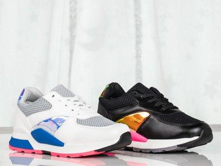 Białe buty sportowe z holograficznymi wstawkami Tusillona - Obuwie