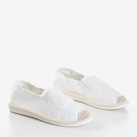 Białe damskie espadryle Elmot - Obuwie