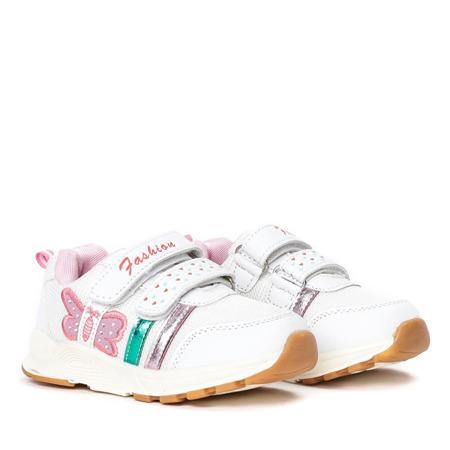 Białe dziewczęce buty sportowe Fonni - Obuwie
