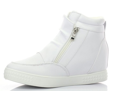Białe sneakersy na koturnie Velicienta - Obuwie