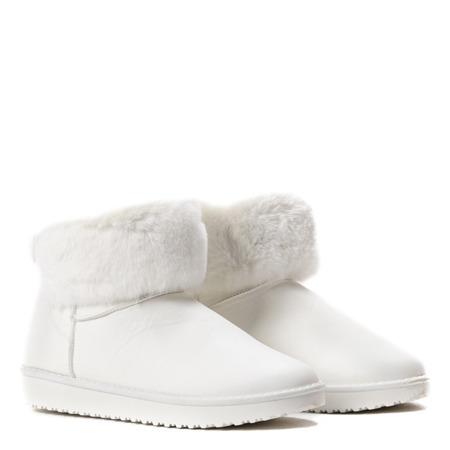 Białe śniegowce z kokardą Agueda - Obuwie