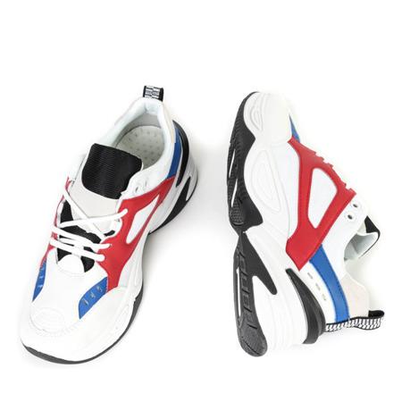Białe sportowe buty na grubej podeszwie Licata - Obuwie