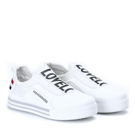 Białe sportowe slip on Zoia - Obuwie