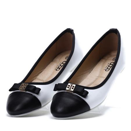 Biało-czarne baleriny Blancco - Obuwie