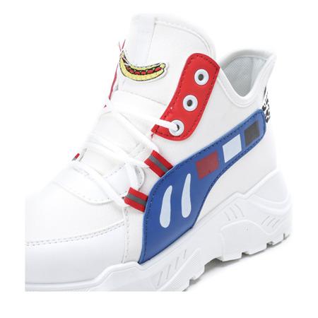 Biało - niebieskie buty sportowe na wyższej podeszwie Milkmade - Obuwie
