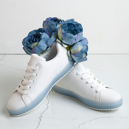 Biało - niebieskie tenisówki Robinson - Obuwie