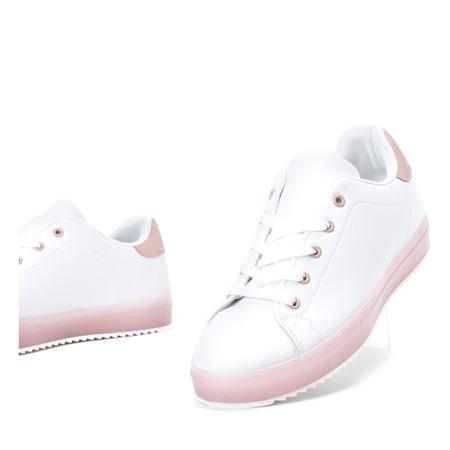 Biało - różowe tenisówki Ivye - Obuwie
