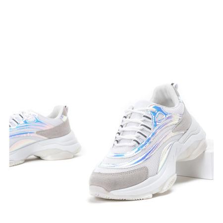Biało-szare buty sportowe na grubej podeszwie Alabama - Obuwie