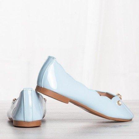 Błękitne baleriny z ozdobami Kassy - Obuwie