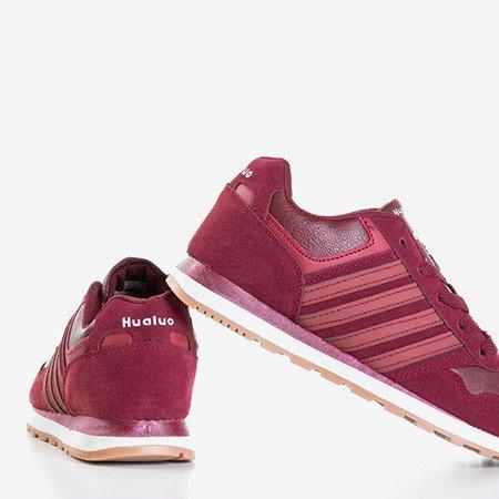 Bordowe damskie buty sportowe Saja - Obuwie