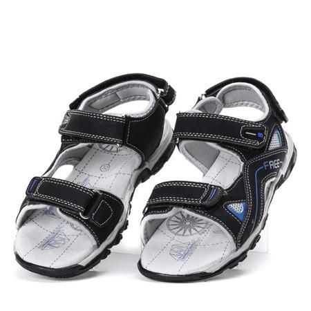 Chłopięce sandały w kolorze czarnym Louis - Obuwie
