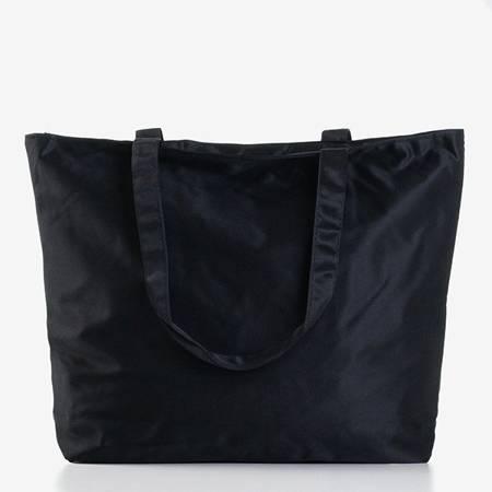 Czarna damska torba z pintem - Torebki
