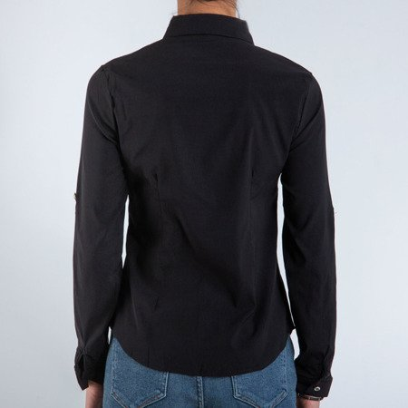 Czarna koszula damska - Bluzki