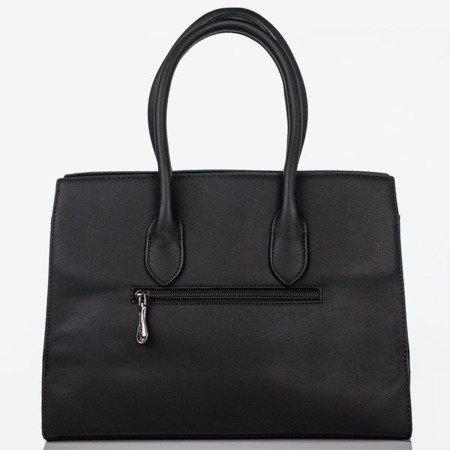 Czarna torebka na ramię z tłoczeniem - Torebki