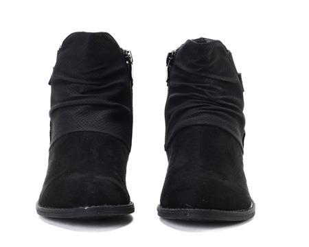 Czarne botki Liuenh - Obuwie
