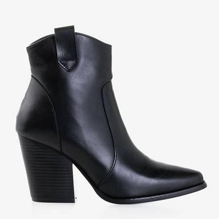 Czarne botki damskie typu kowbojki Vericja- Obuwie