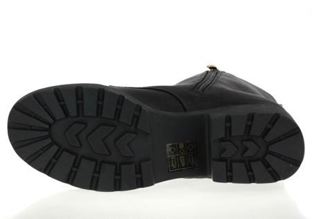 Czarne botki na platformie Barbra- Obuwie