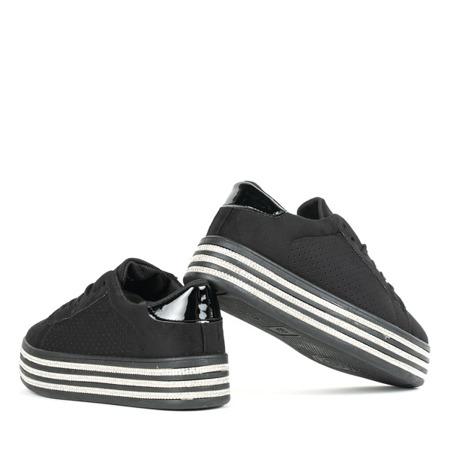 Czarne buty sportowe na platformie Vahini - Obuwie