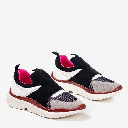 Czarne buty sportowe  z kolorowymi wstawkami Mendora - Obuwie