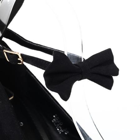 Czarne czółenka z uszami Sinnecta - Obuwie