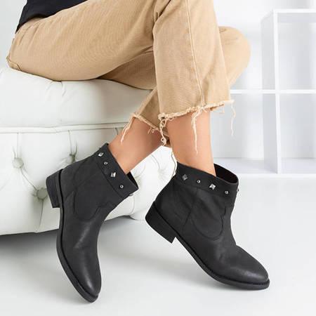 Czarne damskie botki z ozdobami Guccio - Obuwie