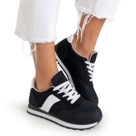 Czarne damskie buty sportowe Sandoela - Obuwie