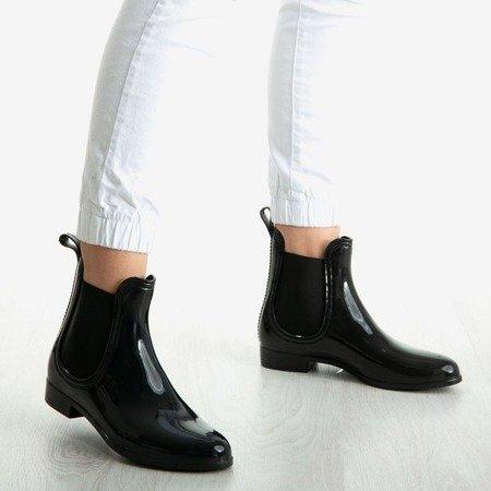 Czarne damskie kalosze Rainy Street - Obuwie
