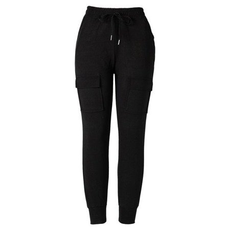 Czarne damskie spodnie materiałowe tregginsy - Spodnie