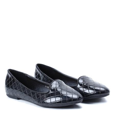 Czarne, lakierowane mokasyny- Obuwie