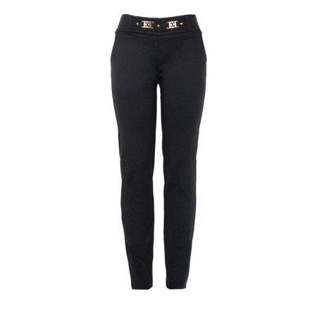 Czarne legginsy - Spodnie